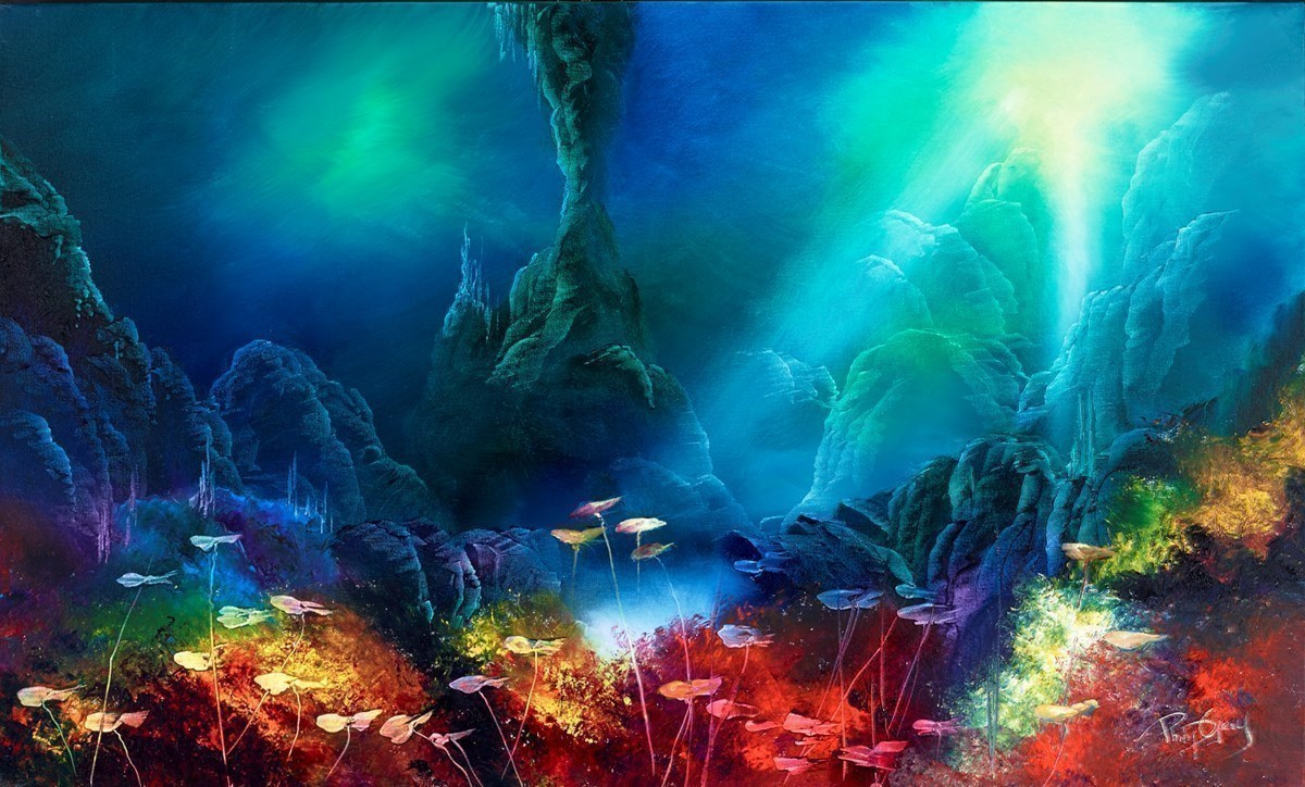 Deep Underwater III by Philip Gray -  sized 40x24 inches. Available from Whitewall Galleries